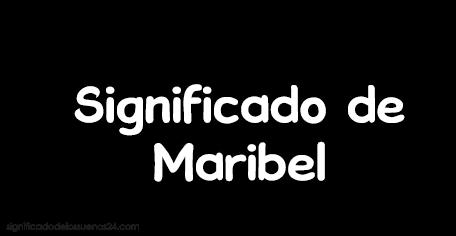 significado de Maribel