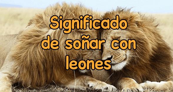 Qué significa soñar con leones?