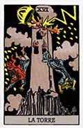 carta tarot torre