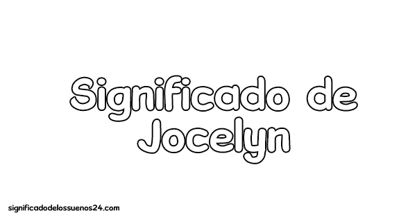 significado de jocelyn