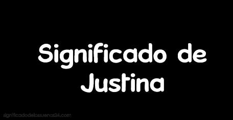 significado de justina