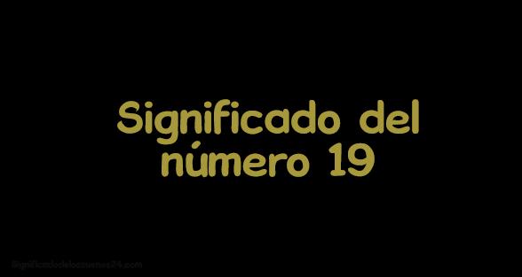 significado del numero 19