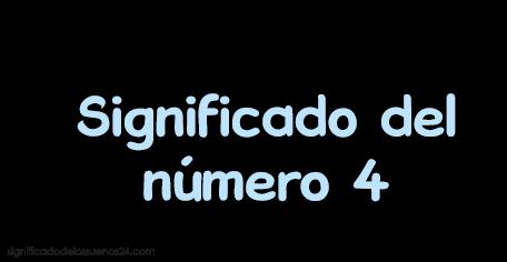 significado del numero 4