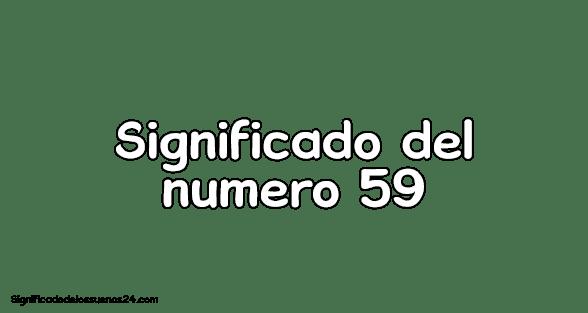 significado del numero 59