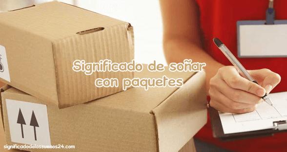 soñar con paquetes